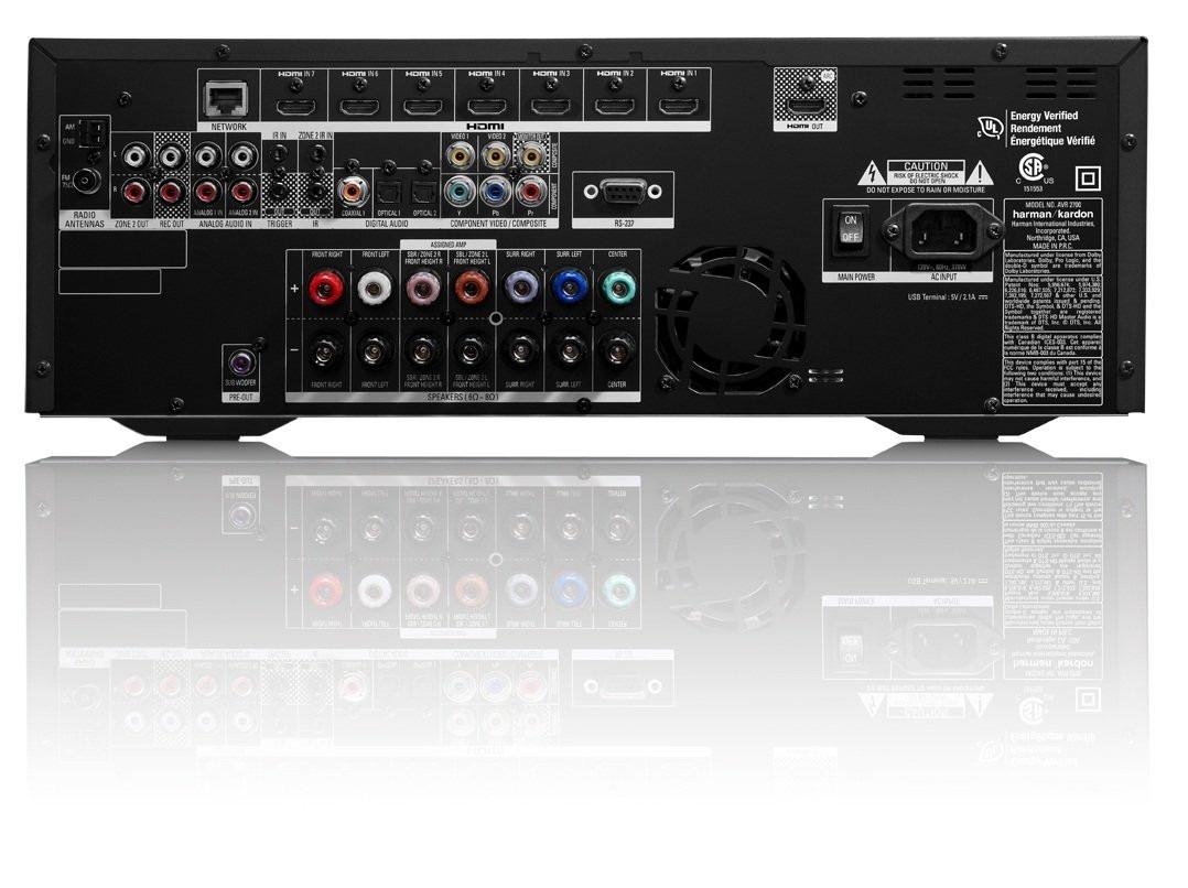 receiver harman kardon avr 2700 7 1 channel 100 watt r. Black Bedroom Furniture Sets. Home Design Ideas