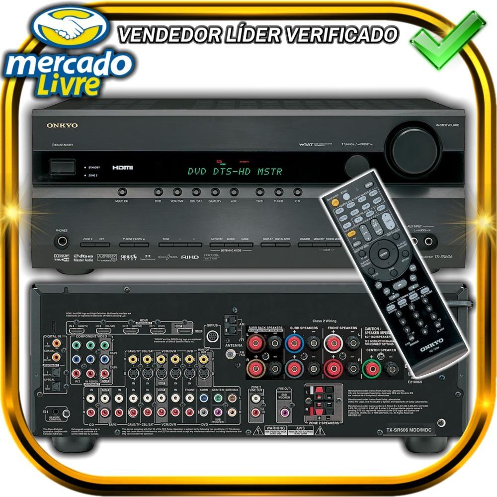 Receiver Home Theater Onkyo 7 1 (9 Canais) 5xhdmi Tx-sr 606