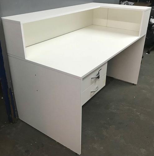 recepción mostrador escritorio puesto de trabajo kromo-s