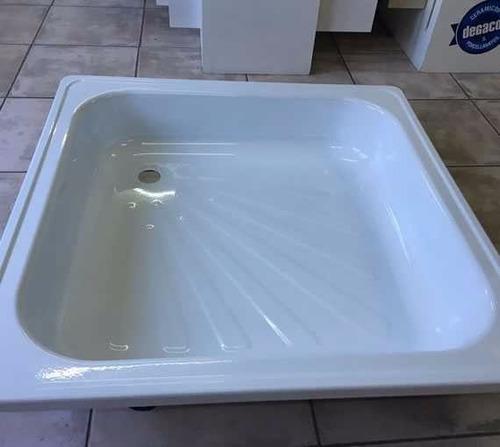 receptaculo para ducha chapa antideslizante 80x80 blanco