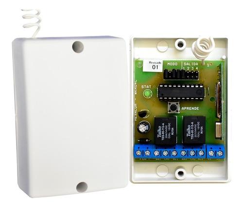 receptor 4 canales 433mhz 100 mts wkru4c inalambrico
