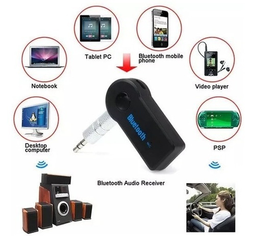 receptor adaptador bluetooth 3.5 mm automovil musica