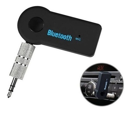 receptor adaptador bluetooth vehículo carro auxiliar 3,5 mm