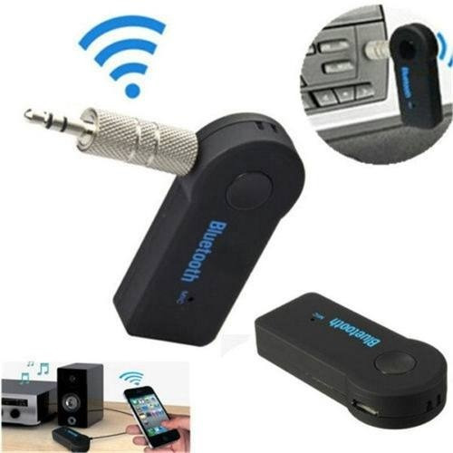 receptor adaptador bluetooth vehículo carro auxiliar 3,5 mm