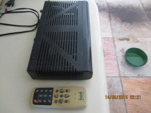 receptor analógico com controle remoto rcr -3800-(bom estado