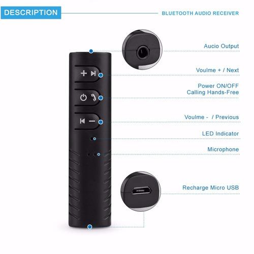 receptor audio bluetooth 4 - adaptador som carro chamada p2