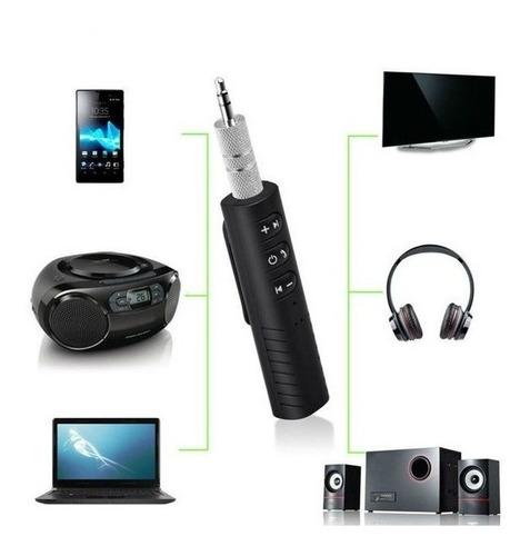 receptor bluetooth auxiliar audio recargable control microfo