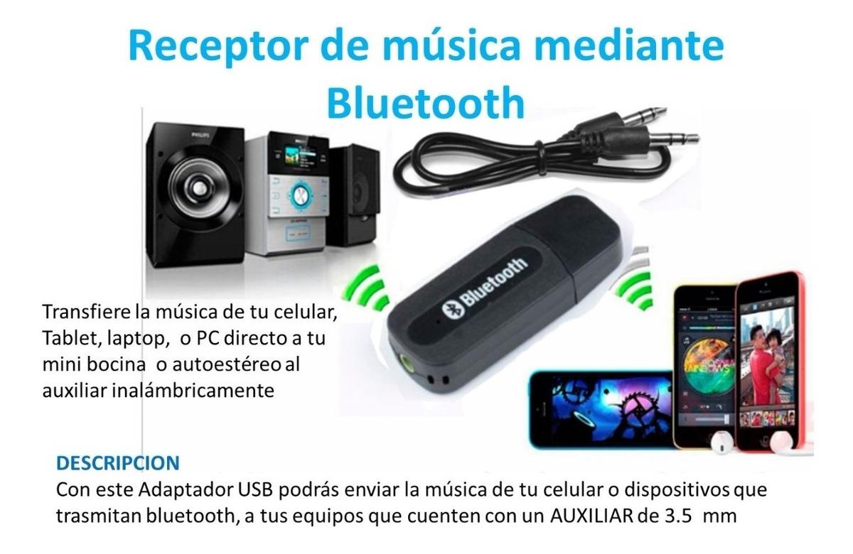 Adaptador Bluetooth 3.5 MM Auxiliar para Transferir la Música de tu Teléfono