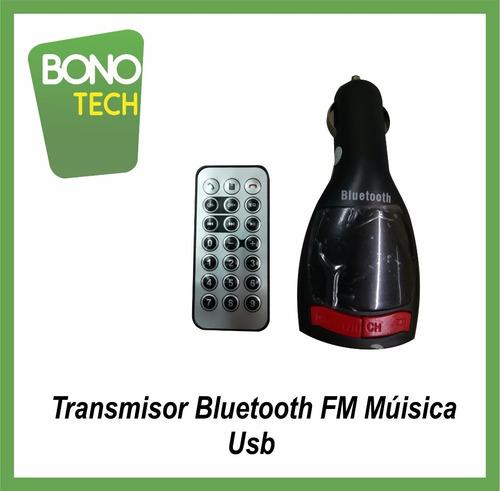 receptor  bluetooth fm para auto emite tu musica