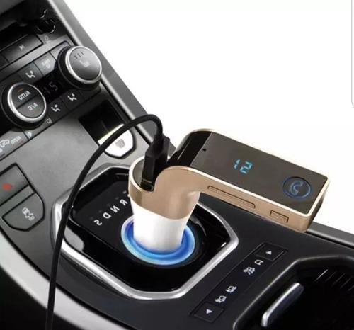 receptor bluetooth manos libres usb cargador coche carg7