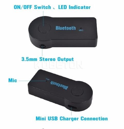 receptor bluetooth música y microfono / llamadas plug 3.5mm
