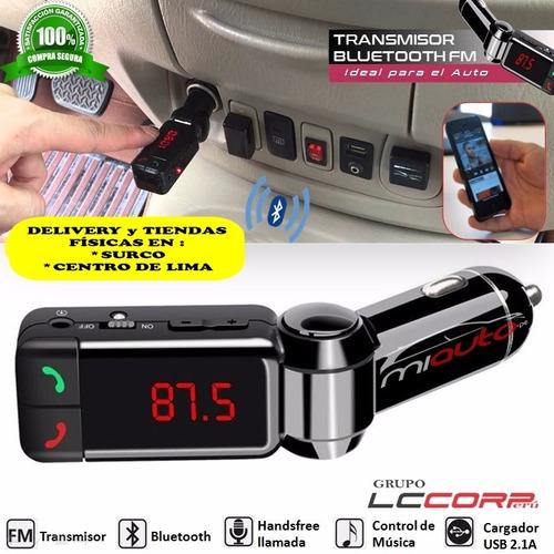 receptor bluetooth transmisor fm cargador para auto radio
