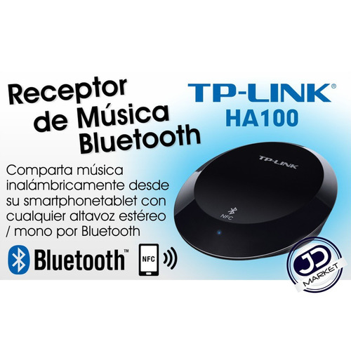 receptor de audio/música bluetooth 4.1 / nfc, tp-link ha100