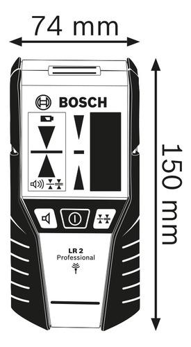 receptor de láser bosch lr2 alcance 5-50mts p/ nivel laser