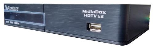 receptor e conversor midiabox b3 hdtv century midia box nfe