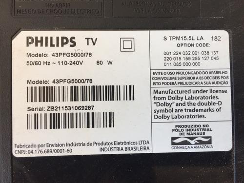 receptor e teclado tv philips 43pfg5000/78