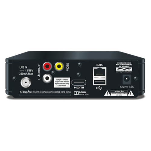 receptor elsys digital oi livre hd controle inteligente