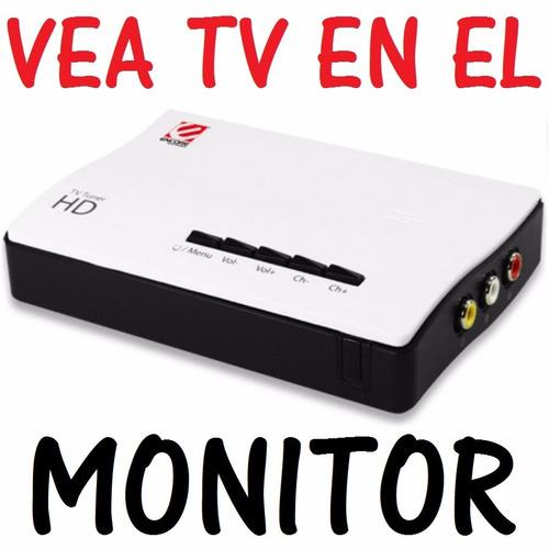 receptor externo sintonizador vea tv en su monitor rca a vga
