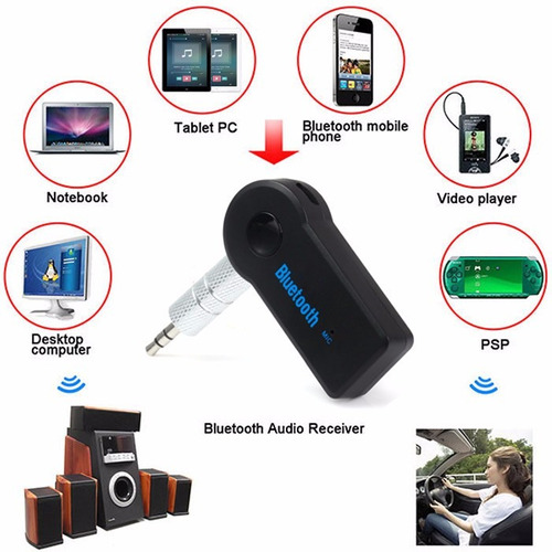receptor inalambrico bluetooth audio 3.5mm manos libres