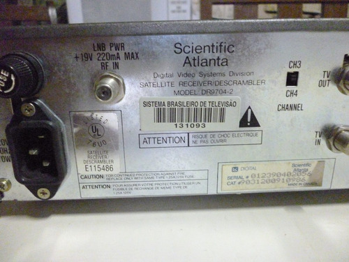 receptor integrado e decodificador scientific atlanta b-mac