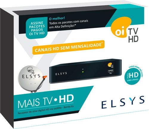 receptor oi tv livre hd etrs37 slim +  habilitação grátis