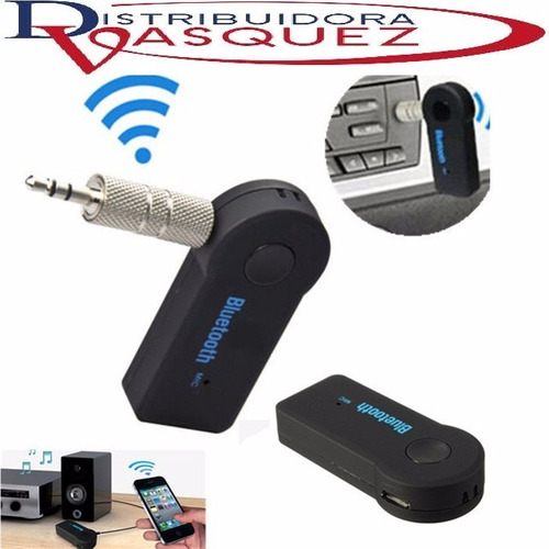 receptor recargable bluetooth audio auto hogar auxiliar 3.5