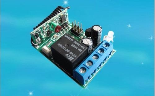 receptor relé remoto 1 canal 433 mhz cerco alarmas botón