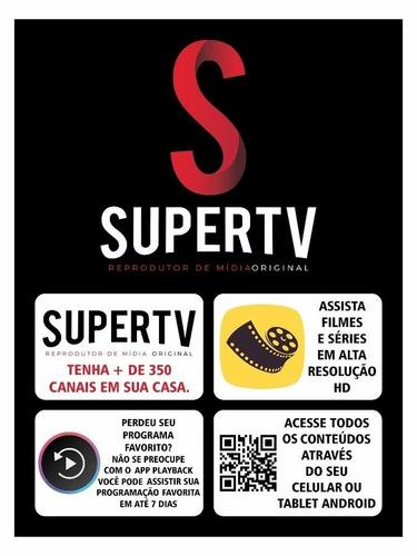 receptor supertv black internet 4k
