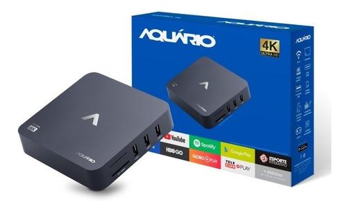 receptor tv box smart aquário android netflix youtube 4k