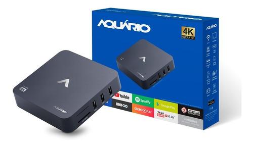 receptor tv box smart aquário android netflix youtube 4k top