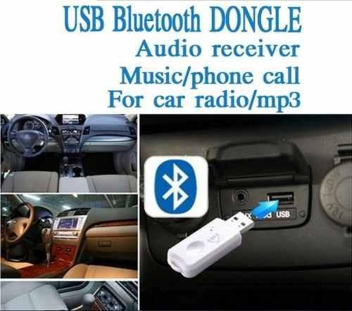 receptor usb aux bluetooth auto equipo sonido parlante