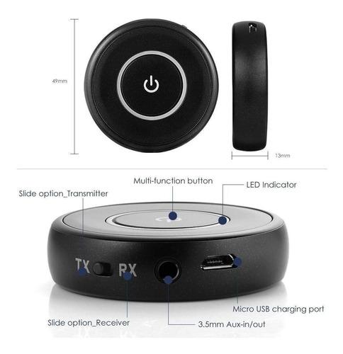 receptor y transmisor 2 en 1 bluetooth 5.0 stereo wireless