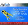 Pelador Universal De Cable Coaxial Rg11 Rg6 Rg58 Rg59