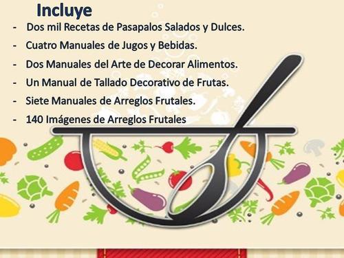 receta de pasapalos,postres y arreglos frutales para fiestas