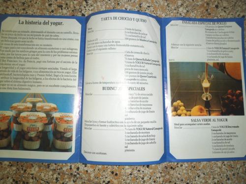recetario conaprole yogur