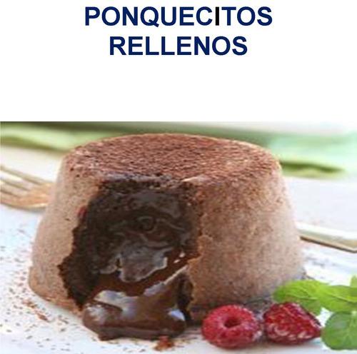 recetario cup  cake llorones y rellenos
