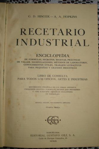 recetario industrial- hiscox & hopkins