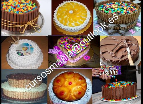 recetarios de tortas decoradas,de pirulin, de piña y mas...