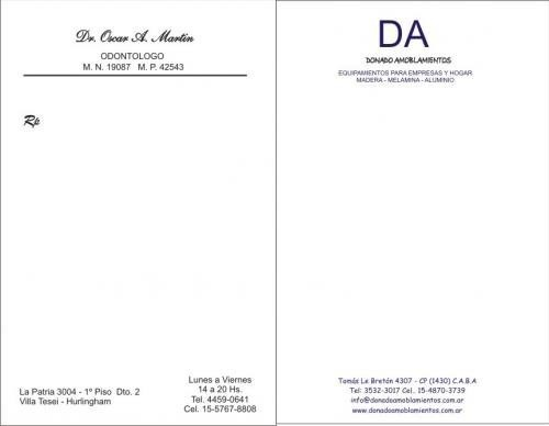 recetarios medicos - veterinarios - facturas