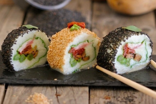 recetas de sushi, ensaladas y más... comida japonesa