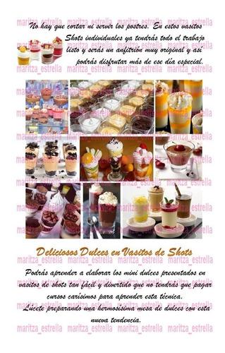 recetas mini dulces en shots para decorar tus fiestas