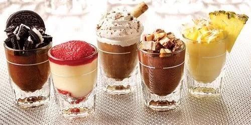 recetas mini dulces en shots, pasapalos, decoracion, postres