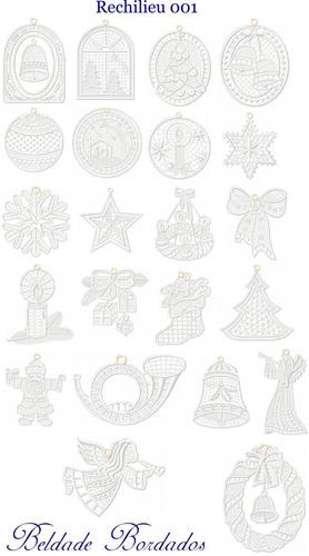 rechilieu 001 - 22 matrizes de bordado