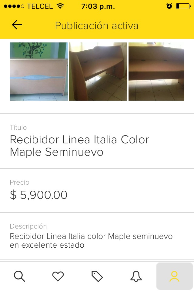 Recibidor Línea Italia Color Maple - $ 4,200.00 en Mercado Libre