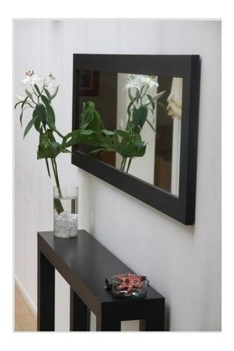 recibidor marco de madera con espejo 1.70 x 70 + consola 1.5