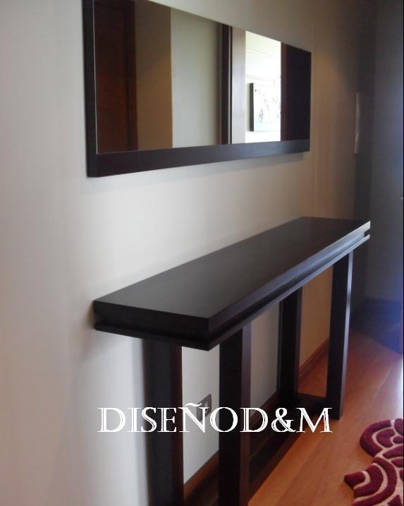 Recibidor Moderno Estilo Minimalista - Madera - Diseño D&m - $ 3.161 ...