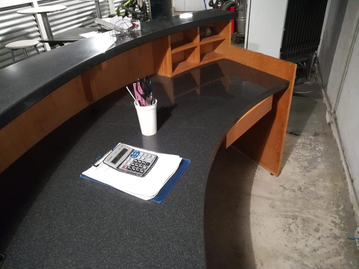Mostrador De Oficina.Recibidor Recepcion Oficina Mostrador Escritorio Curvo Acero
