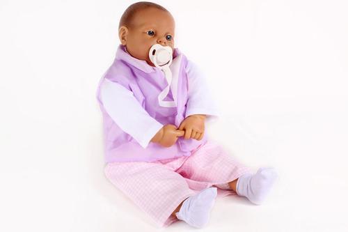recién nacido clásico con ojos abiertos - cuerpo soft - 58cm