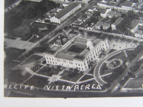 recife vista aérea em foto postal conjunto de três antigos