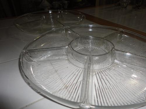 recipiente de 6 compartimiento multi uso de dos piezas